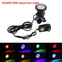 3 5W 36led Aquarium Light RGB Submersible Spotlights Garden Pond Pool Fish Tank Underwater Bulb EU