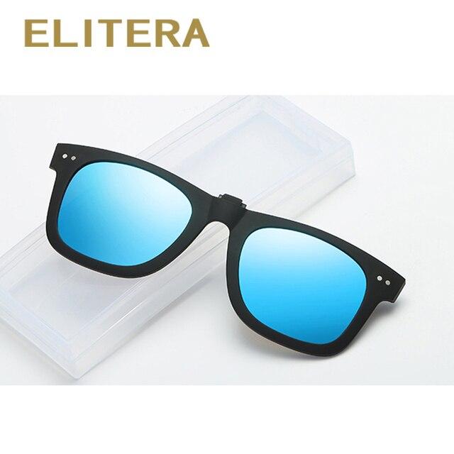 4b753082225 ELITERA Men Women Retro Polarized Sunglasses Clip On Myopia Glasses Goggles  Sun Glasses UV400 Anti-Reflective Lens
