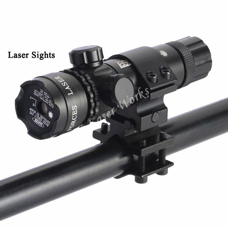 송료 무료 사냥 용 전술 테일 스위치가 장착 된 11mm 및 20mm 마운트를 포함한 적색 녹색 점 시력 레이저 라이플 스코프 시력