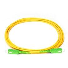 כבל מגשר 10 יח\שקית SC/APC תיקון כבל PVC צהוב 3.0mm 9/125 חד סימפלקס סיבים מגשר