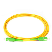 Câble de raccordement à fibers optiques 10 pièces/sac SC/APC cordon de raccordement PVC jaune 3.0mm 9/125 unimodal Simplex câble de raccordement à fibers