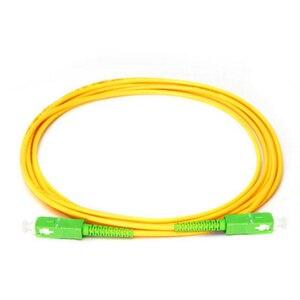 Image 1 - Fiber Optic Jumper Cable 10pcs/bag SC/APC Patch Cord  PVC Yellow 3.0mm 9/125 Singlemode Simplex Fiber Jumper