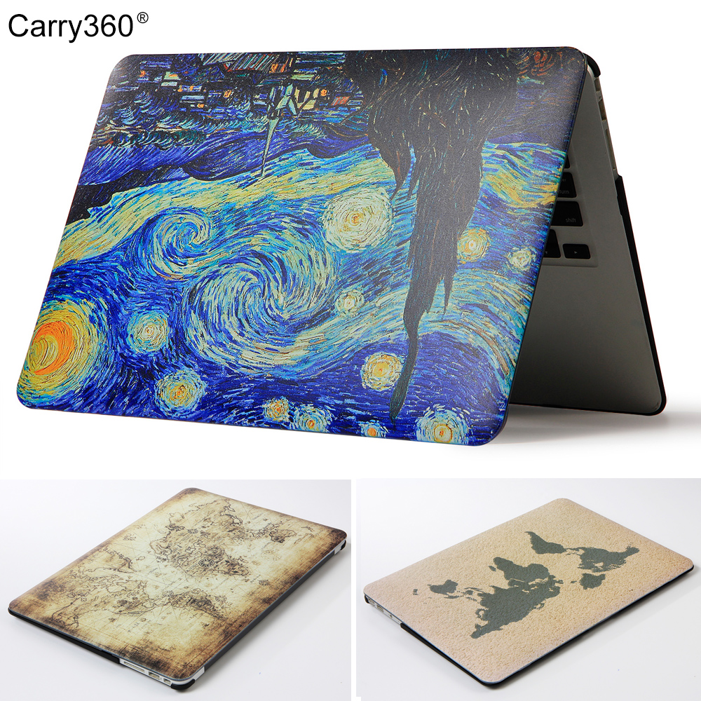 Carry360 Hard Print Painting Map Laptop Case for Apple Macbook Air Pro Retina 11 12 13 15 for New Mac book Pro 13 with Touch Bar свитшот print bar bradwarden centaur warrunner