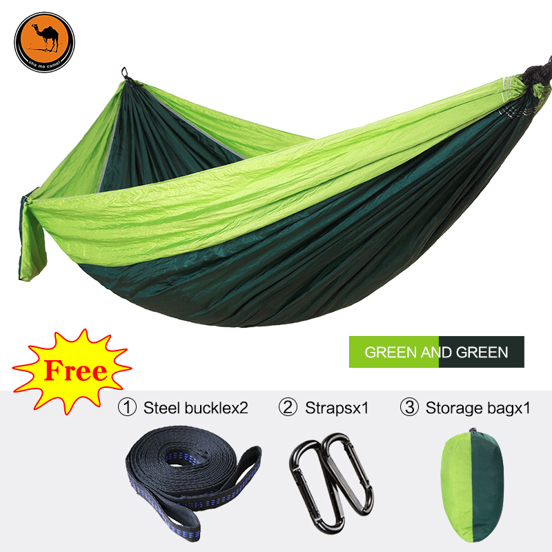 High Strength Outdoor Hammock Tree Portable Parachute Sleeping Swings Backpacking Hiking Woven Camping Furniture 2 people portable parachute hammock outdoor survival camping hammocks garden leisure travel double hanging swing 2 6m 1 4m 3m 2m