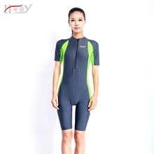 HXBY Anti-UV Polyester swimwear protective swiming suit tight water sport wetsuits unisex diving suit rushguards free shipping