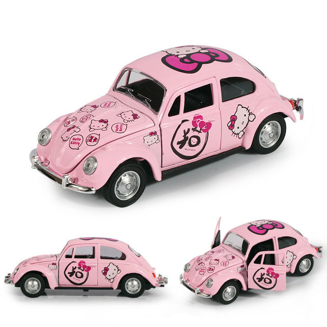 Hello Kitty Toy Car For Girls : Children s toy car hello kitty alloy pull back cars cute