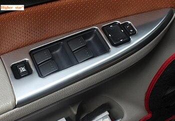 Maggiore stella in acciaio inox 4 pz Auto finestra interruttore decorazione della porta di copertura all'interno del bracciolo piatto dello scuff Per Mazda6 2003-2013