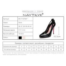 Women'S Pumps New Arrival Fashion Slip-On Elegant Pointed Toe Office Heels Woman Shoes Black Blue Pink BK-7107007 36-41 NAYTILYE