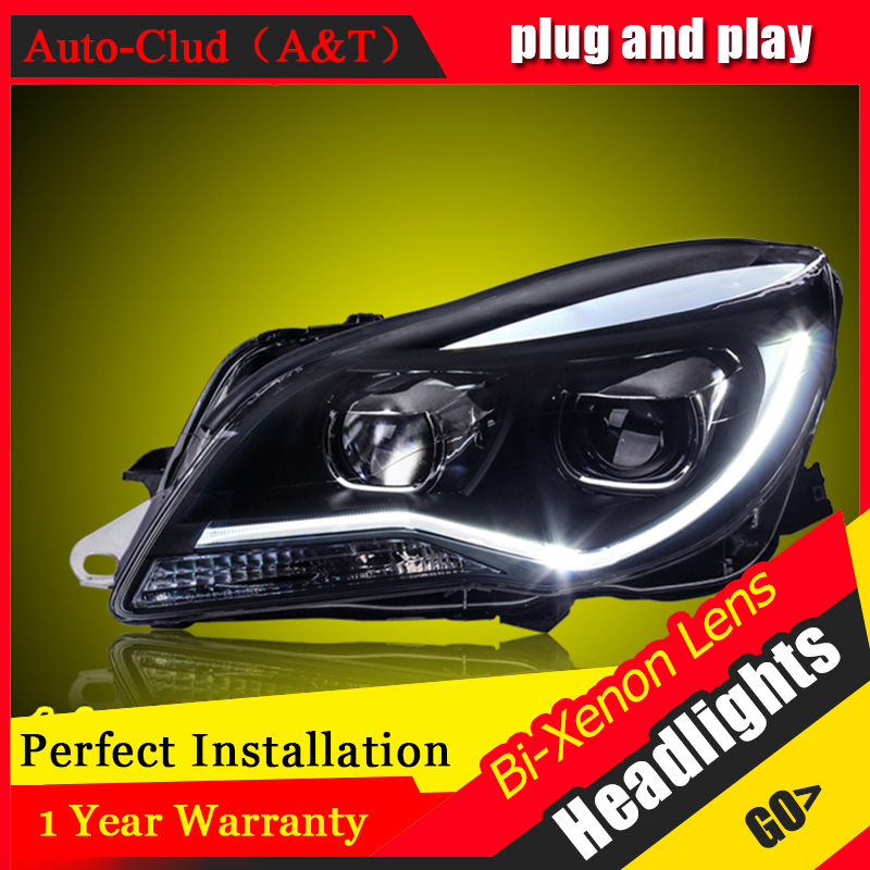 Car Styling For Opel Insignia led headlights For Buick Regal head lamp Angel eye led front light Bi-Xenon Lens xenon HID KIT стоимость