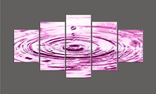 Paarse Decoratie Slaapkamer : Unframed moderne 5 stks paars waterdruppels hd gedrukt