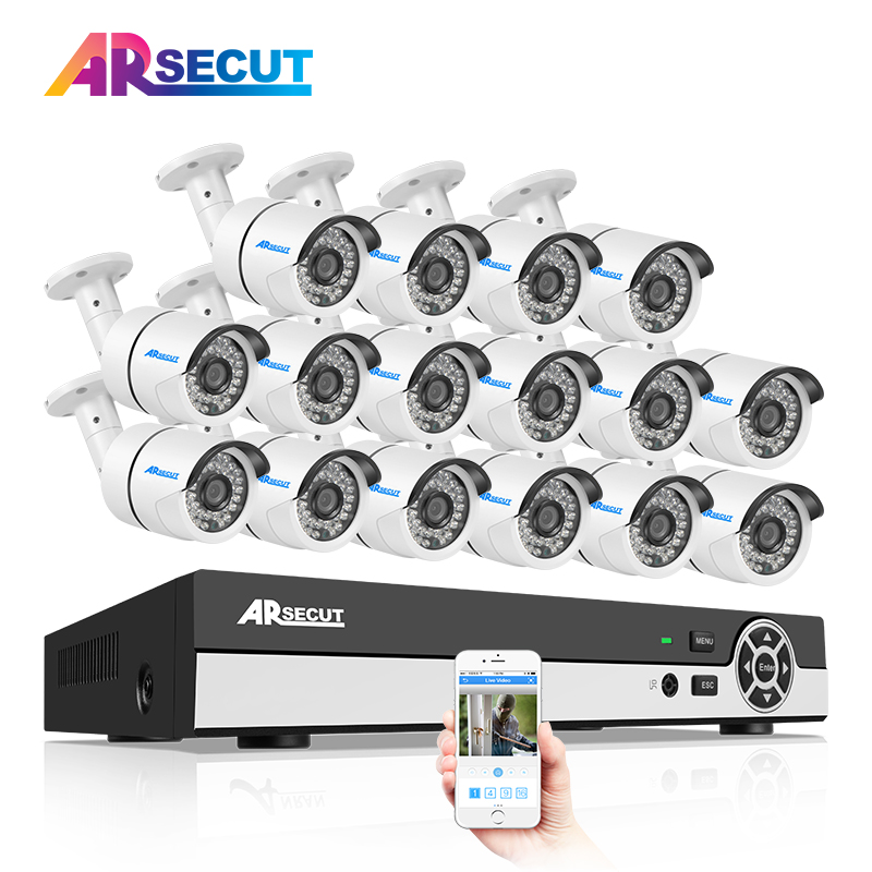 Newest 16CH 1080N HDMI DVR Security System&720P 1800TVL HD Outdoor Weatherproof CCTV Camera Home Video Surveillance Email Alarm zosi 1080p 8ch tvi dvr with 8x 1080p hd outdoor home security video surveillance camera system 2tb hard drive white