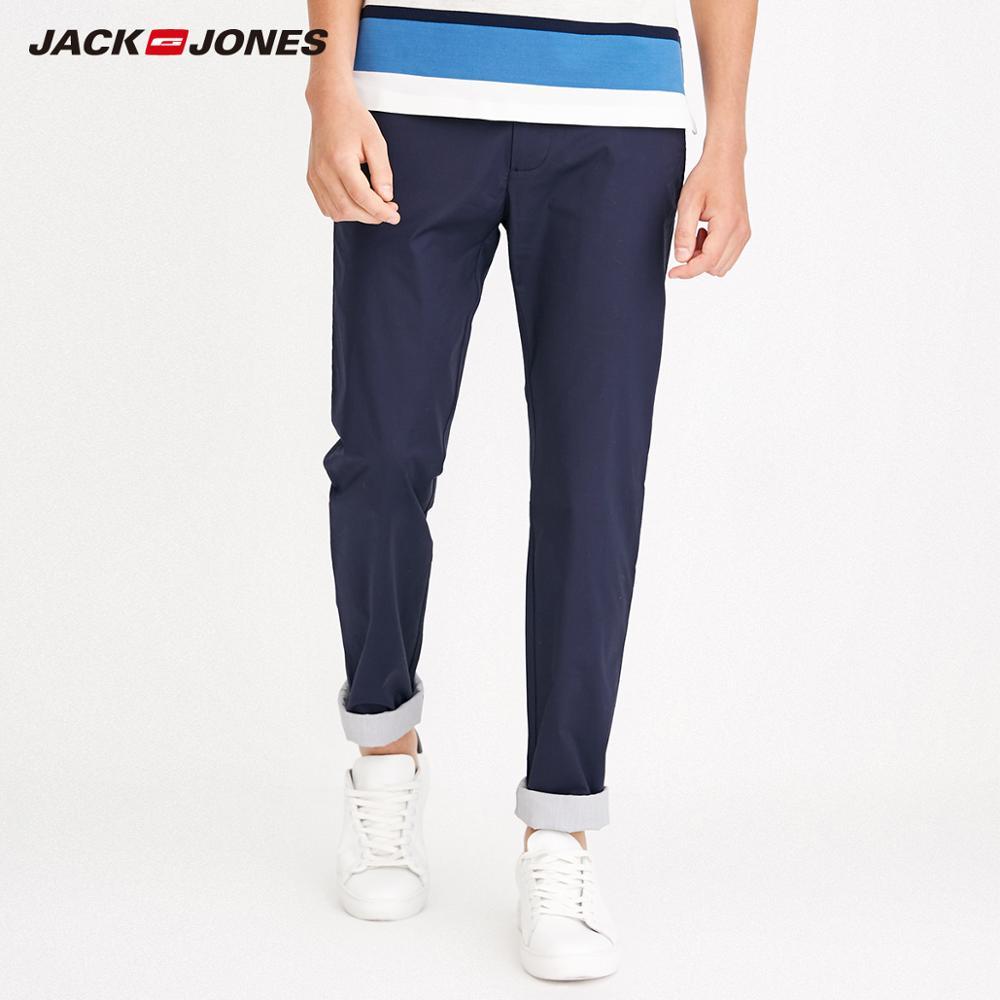 JackJones Men's Autumn Stretch Cotton Slim Fit Casual Pants Menswear 218214504