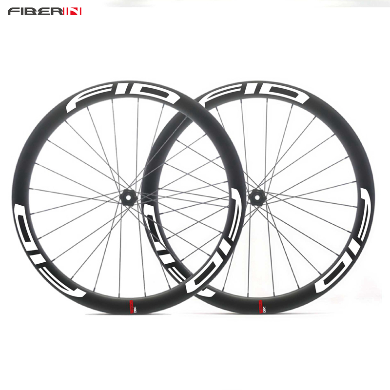 Gravel Bike Cyclocross Wheelset Toray T700 Carbon Fiber Road wheelset With Hockless clincher 45mm depth beadless wheels