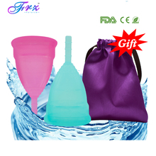 лучшая цена 2pcs(1L+1S) menstrual cup 100% medical silicone copa menstrual Feminine Hygiene Product Reusable Lady cup Pass FDA Silicone cup