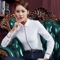 Work Women Shirts Full Sleeve Slim 6006 Business Attire Clothing Blouse Shirt 8025