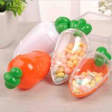 12PCS/20PCS Lovely Plastic Carrot Candy Box Wedding Favor Box Baby Shower Kids Birthday Party Gift Box Christmas Gift Packaging