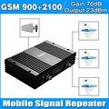 Cubierta 3 HABITACIÓN 1500Sp GSM 900 WCDMA 3G 2100 Repetidor de señal teléfono celular de Refuerzo conjunto Completo de Antena Log Periódica con Antena Celling