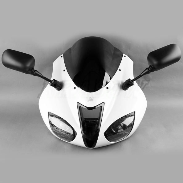 Front Upper Fairing Cowl Combo For Kawasaki ZX-6R ZX636 ZX6R ZX 636 2007-2008 07 new arrival black motorcycle rear seat cover cowl for kawasaki ninja zx6r 636 zx 6r 2007 2008 07 08 90c20 wholesale