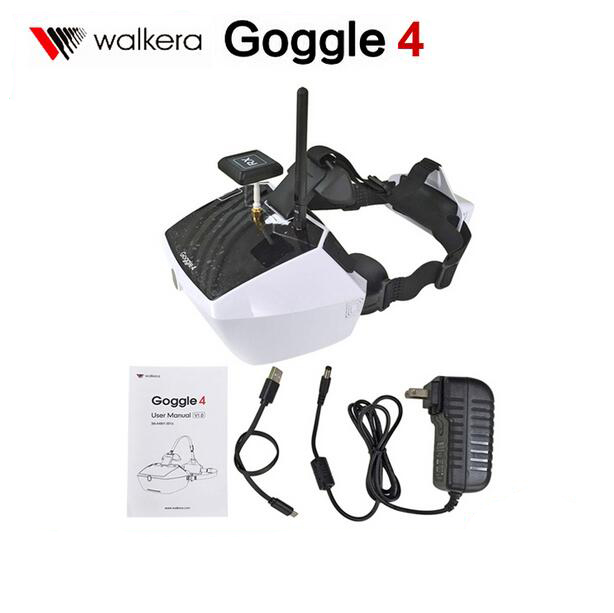 Free Shipping Original Walkera 5.8G 40channels Goggle4 Goggle 4 FPV Video image transmission glasses FPV spectacles with antenna walkera goggle2 fpv 5 8g 8ch video glasses with head tracking system ems free shipping