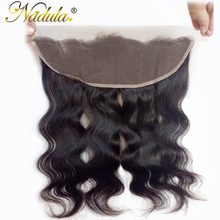 Nadula Hair 13×4 Lace Frontal Body Wave Hair Peruvian Non Remy Hair Weaves 100% Human Hair Extensions Closure 10-20INCH