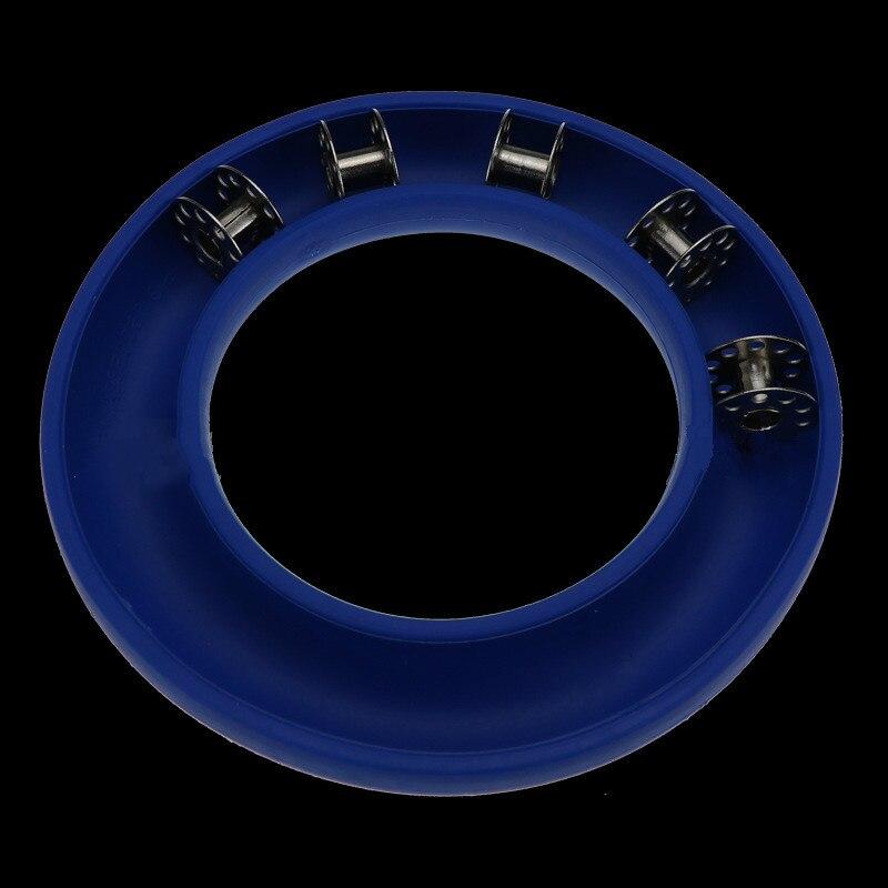 Storage-Box Rubber-Ring Bobbin-Holder Portable-Tools Plastic DIY Blue/purple