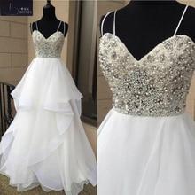 BRITNRY Tiered Ruffles Sweetheart A Line Wedding Dress