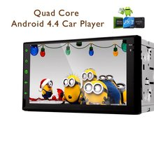 """HD Capacitive Full Touch 100% Pure Android 4.4.4 Car Stereo 2 din 7"""" GPS Navigation Car Radio Player in-dash Bluetooth Head Uni"""