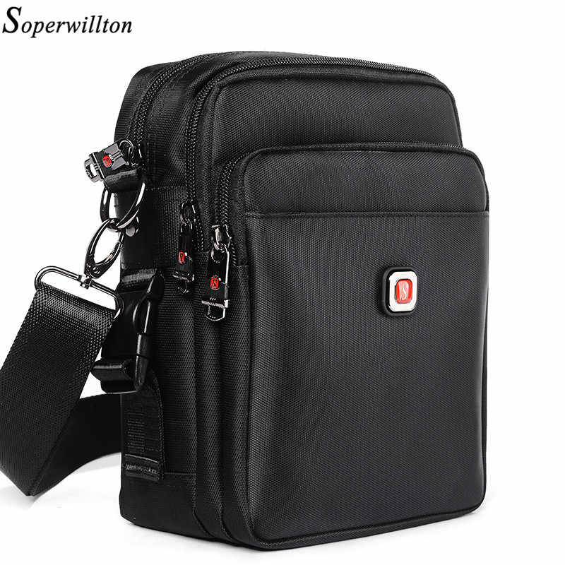 Soperwillton Men Bag Shoulder & Crossbody 2019 Material Upgrades Classic Bags Oxford Waterproof Zipper Casual Bag For Man #1054