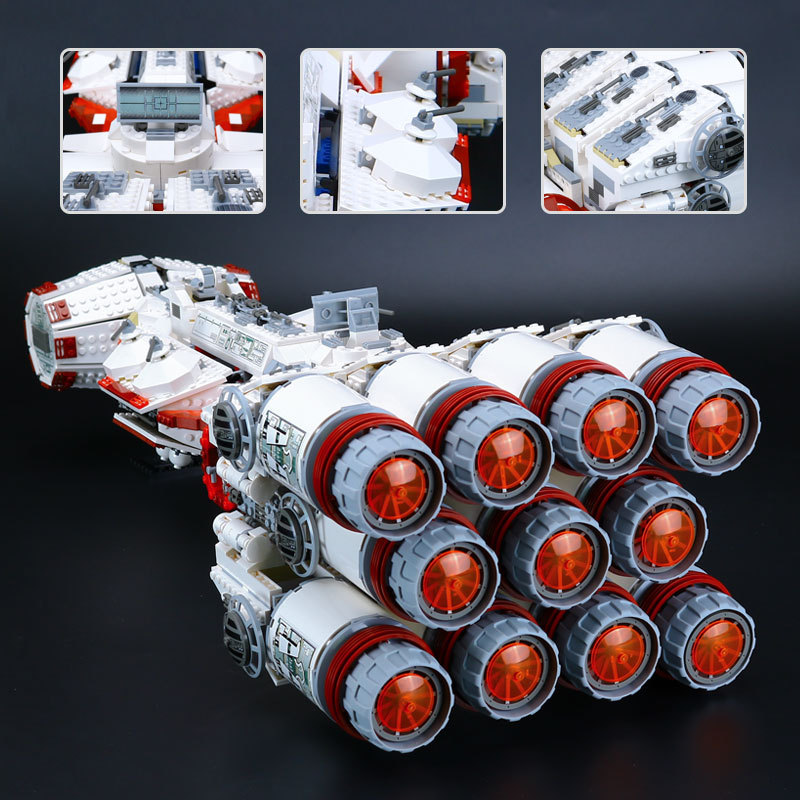LEPIN 05046 1748Pcs New Star War Series The Tantive IV Rebel Blockade Runner Set Educational Building Blcoks Bricks Toys 10019 2017 new lepin 05046 1748pcs star war tantive iv rebel blockade runner model building kit blocks brick toy gift 10019 funny toy