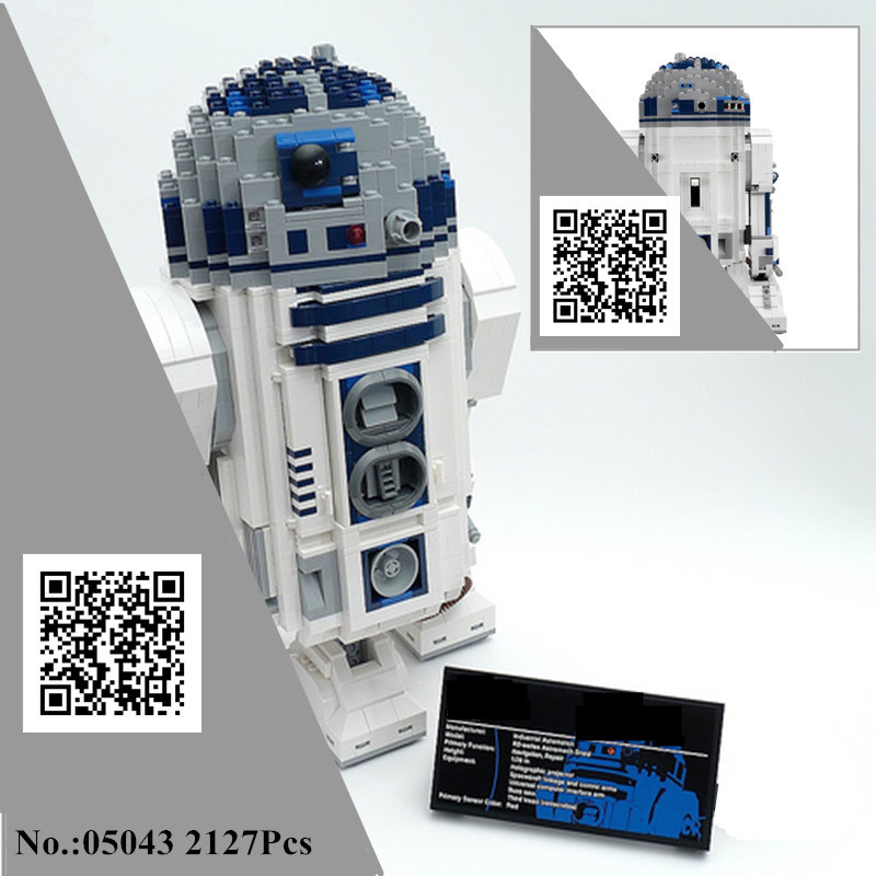 H&HXY IN STOCK 05043 S 2127PCS Star W Genuine The R2- Robot Set Out of print D2 wars Building Blocks Bricks lepin Toys 10225 realts out of print product village house w base diorama building 1 35 miniart 36031
