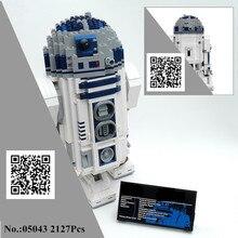 H & HXY в наличии 05043 S 2127 шт. Star W Подлинная R2-робот комплект из печати D2 войны Строительные блоки Кирпич Лепин игрушки 10225