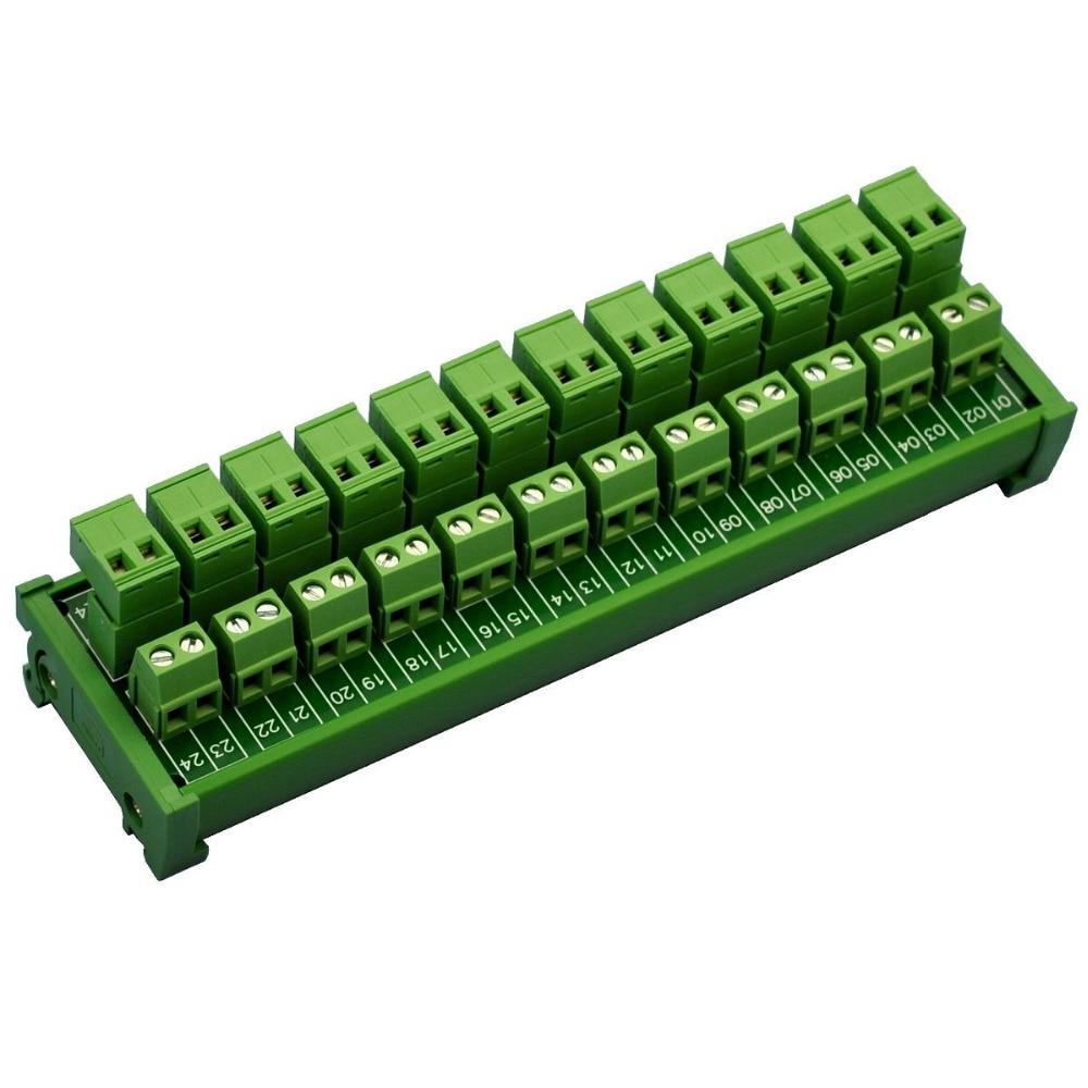 eletronica salao de trilho din montar pluggable 12x2 posicao 10a 300 v modulo de distribuicao do