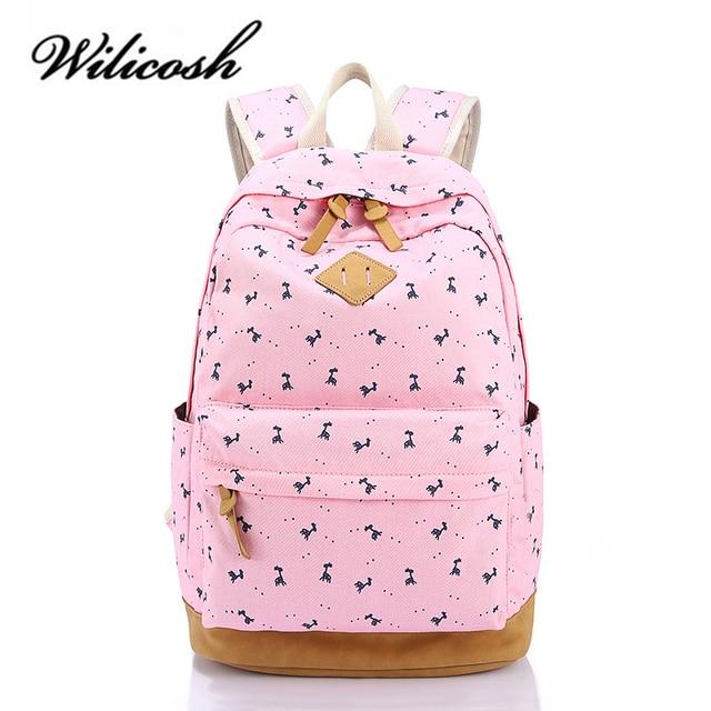 758a0ca064b 1278.3 руб. 33% СКИДКА|Wilicosh Для женщин рюкзак для девочек подростков  школьный рюкзак ...