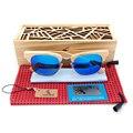 BOBO de AVES Semi Recinto Diseño Unisex gafas de Sol de Bambú De Madera de La Raya De La Marca de Lujo de Las Mujeres de Moda Estilo Gafas de sol Con Caja
