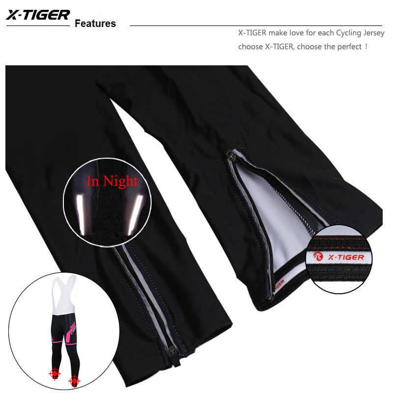 X-Tiger 2019 Pro Женские сохраняющие тепло для горного велосипеда с лямками брюки с 3D гелевыми подушечками зимние мотобайк, велосипед, велотренажер комбинезон для женщин