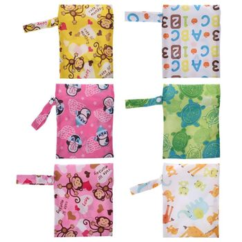 Baby Diaper Storage Bag Portable Waterproof Wet Dry Mini Tote Pouch Nappy Pocket Nappy Changing