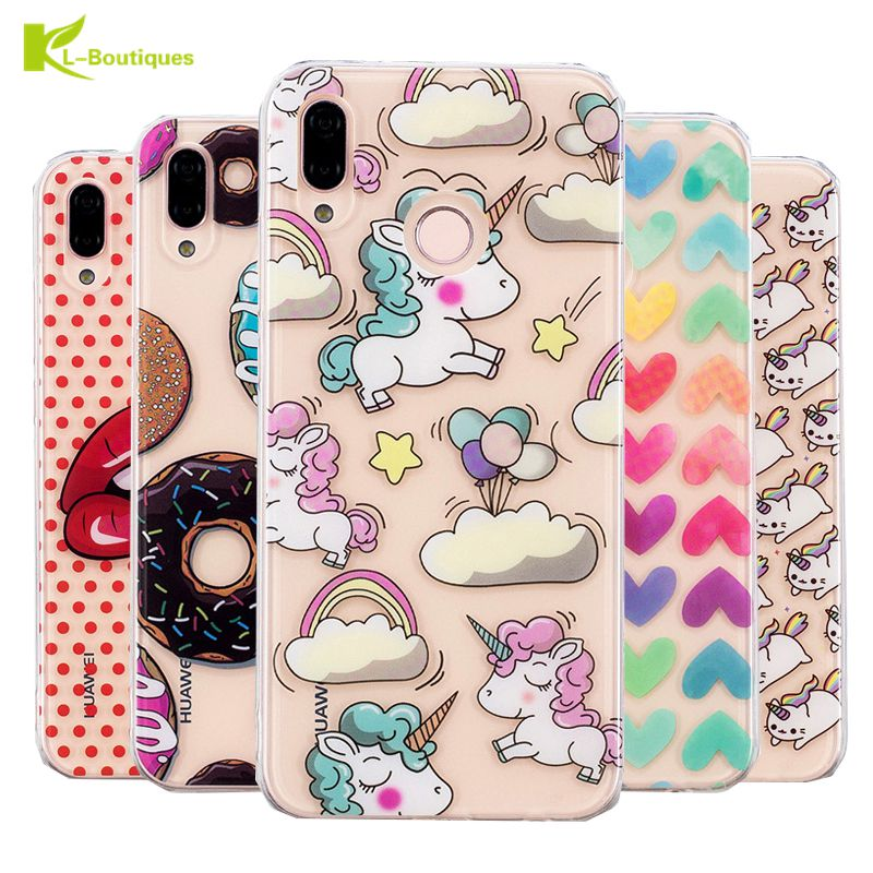 P20lite Unicorn Silicon Case On For Coque Huawei P20 Lite Clear Cover Soft Tpu Transparent Cute Animal Cartoon Phone Cases Nourishing Blood And Adjusting Spirit
