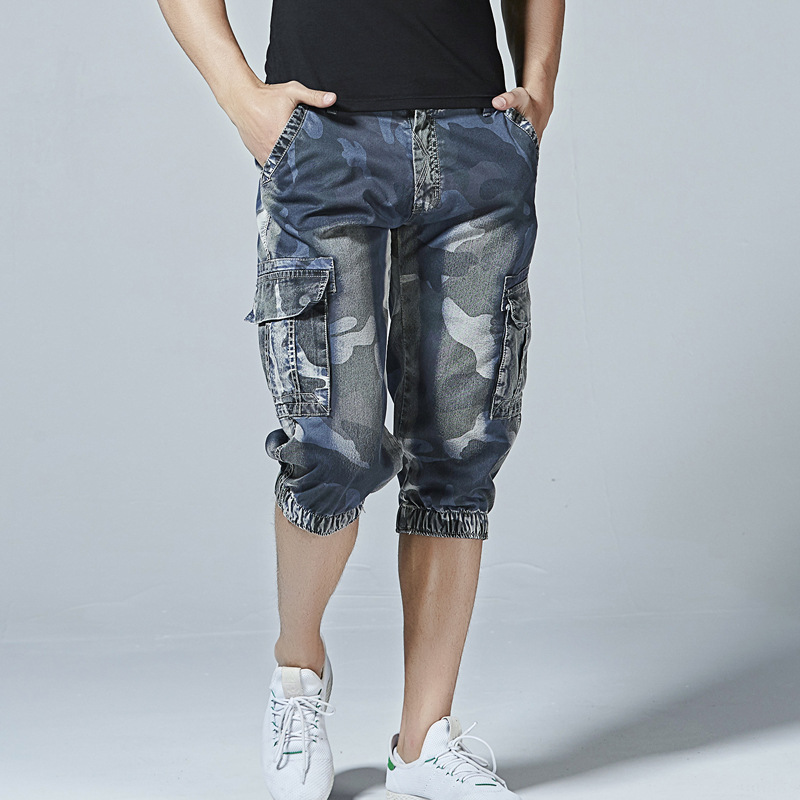 New Men's Fashion Summer Casual Shorts Camouflage Cargo Shorts Male Loose Work Shorts Man Cool Cropped Trousers Plus Size 40