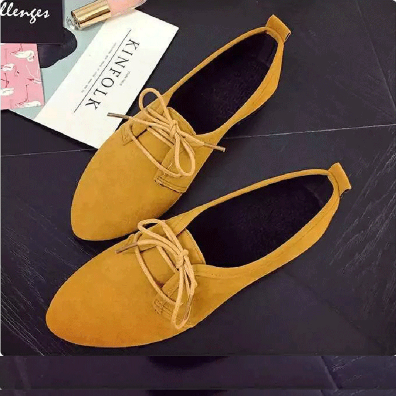 QICIUS Leather Oxford Shoes For Women Pointed Toe Casual Nurse Shoes Flat With Leather Women Loafers Lace-up B0034 e lov women casual walking shoes graffiti aries horoscope canvas shoe low top flat oxford shoes for couples lovers