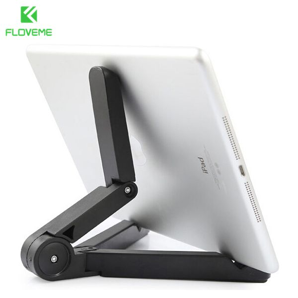 FLOVEME Tablet Phone Stand Case for iPad 2 3 4 Air 1 2 Mini for iPhone 5S 6 6S Plus For Samsung S5 S6 S7 Edge 360 Folded Holder floveme aluminum tablets stand case for ipad 2 3 4 air 2 mini for iphone 5s 6 6s 7 plus for galaxy s7 edge flexible angle adjust