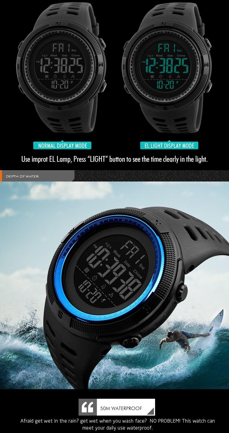 á prova d' água led relógio digital