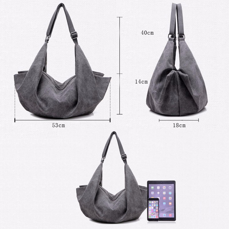 4ff708b5bd2 Aliexpress.com   Buy Hot Designer Women Handbags Hobo Bag Canvas Large  Shoulder Bags Big Vintage Ladies Crossbody Bag Casual Bolsos Mujer Hombro  Lona from ...