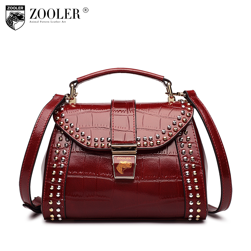 2018 new ZOOLER Brand 100% Genuine Leather Bag Women leather Shoulder Bags Ladies Luxury Handbags Women Bags bolsa feminina#c136 genuine leather handbag 2018 new shengdilu brand intellectual beauty women shoulder messenger bag bolsa feminina free shipping