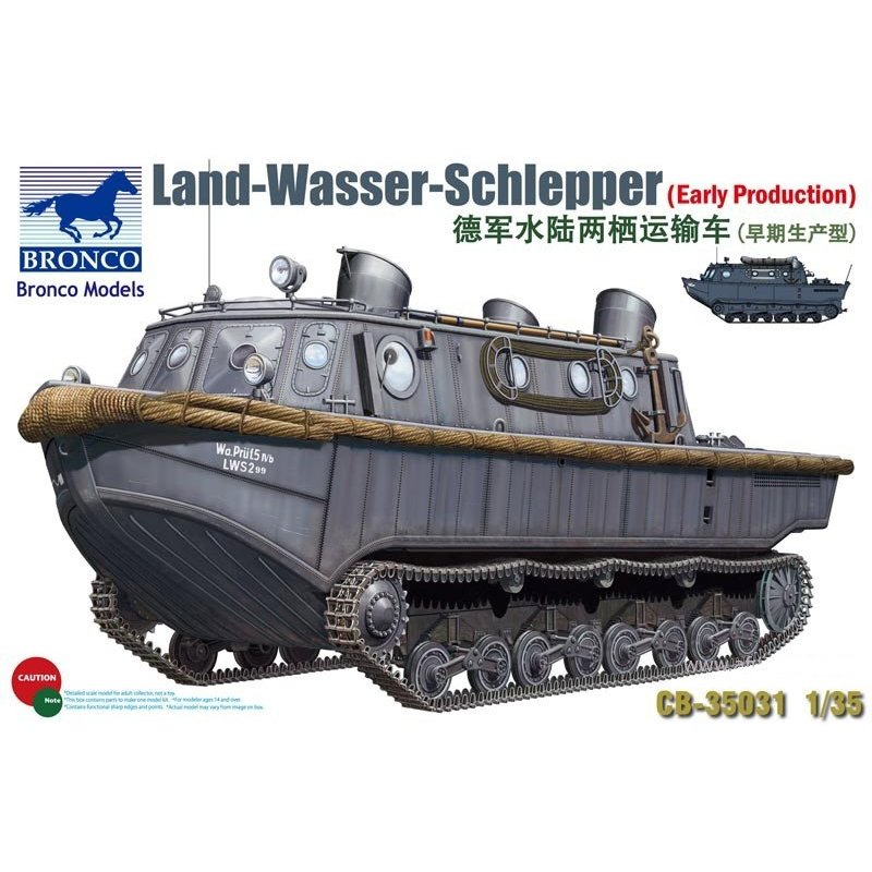 BRONCO CB35031 1 35 Land Wasser Schlepper Early Production Scale Model Kit