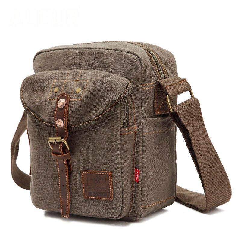 8fd5d1655c3a АВГУР Для мужчин сумка Повседневное пакеты сумка Холст из натуральной кожи  Кроссбоди мешок Для женщин Армейский зеленый износу сумки
