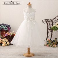 Cheap Flower Girl Dresses 2019 Vestido De Daminha Ball Gown Wedding Party Dress Kids First Communion Gowns Robe Fleur