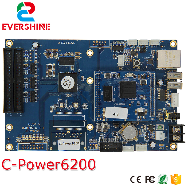 Lumen C-power 6200 RGB Full Color Gray 4GB Memory LED Display Controller Card for AVI,MP4,JPG,VIDEO good group diy kit led display include p8 smd3in1 30pcs led modules 1 pcs rgb led controller 4 pcs led power supply