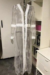 Image 4 - Женский пляжный банный халат для выхода в ванну, купальный костюм, кафтан, платье для плавания, накидка для плавания, привлекательный прозрачный кружевной раздельный костюм, 2020