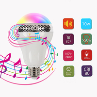 Novelty Night Lights Speaker Decorative Bluetooth 4.0 Color Changing Music Light Wireless Multifunctional Led Bulb