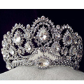 Top Quality Tiaras And Crowns Bridal Hair Ornaments For Weddings Crystals Hair Accessories Forehead Jewelry Women Diadem